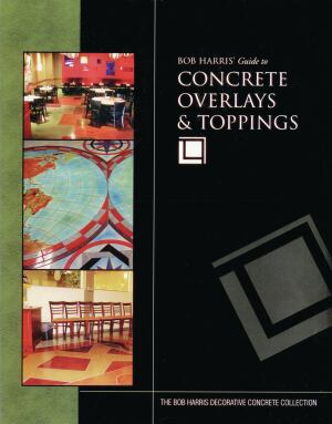 Bob Harris' Guide to Concrete Overlays & Toppings, which now comes with a DVD that provides step-by-step instructions for rejuvenating floors and exterior flatwork. Visit www.decorativeconcreteinstitute.com.