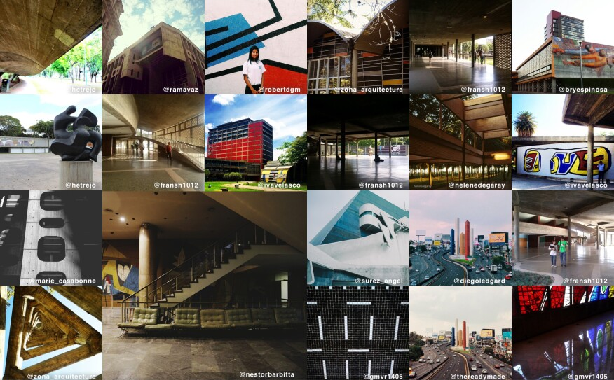 Instagram images uploaded as part of the  #arquimoma campaign