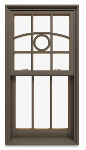 Marvin window in suede