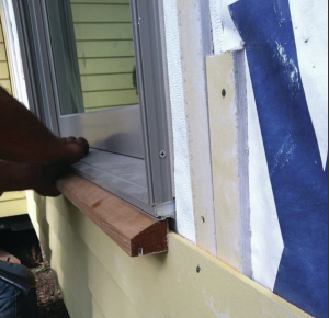 When HardiePlank covers the walls, ripped strips of the material can be used to form the rainscreen. Rainscreens can also be made with 1x3 solid wood strapping.
