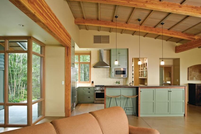 Greene Partners weaves a custom kitchen into a great room