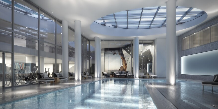 Lumina will feature a 75-foot indoor lap pool.