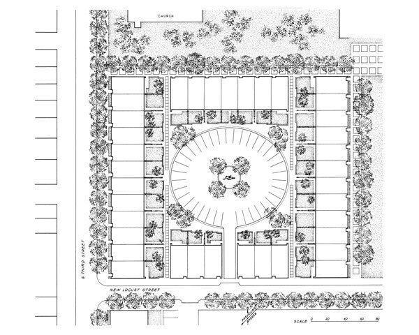 Townhouse block site plan.