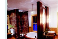 Master Bathroom Combines Modern and Traditional Elements