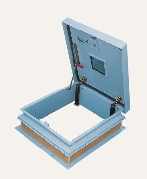 The Security Series roof hatch from Bilco is suitable for use in high-security applications such as banks, pharmacies, and correctional facilities. The design prevents unauthorized building access, and tamper-proof hardware and security fasteners are used throughout. The hatch, made of heavy-gauge materials, is fully insulated and gasketed, and it features engineered lift assistance to allow for easy, one-handed operation.  bilco.com