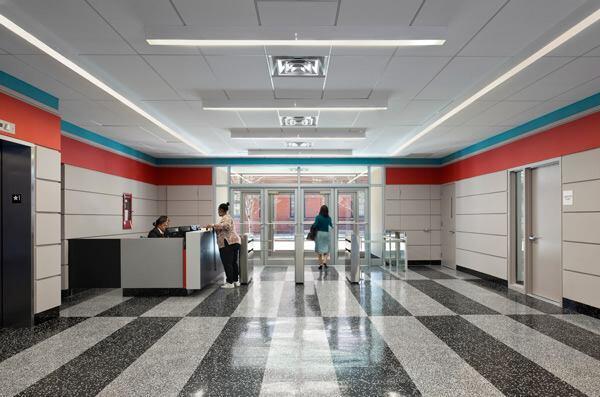 Interior at entrance.