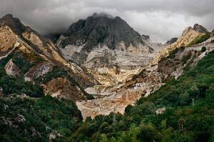 "Edward Burtynsky, ""Carrara Marble Quarries #20, Carrara, Italy, 1993."" Chromogenic color print."