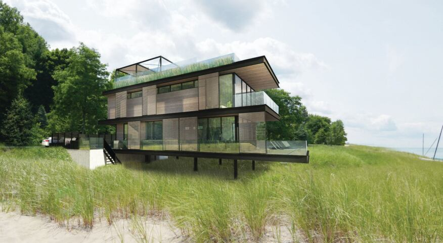 The Sand Box house, currently in the works, is located on the shore of Lake Michigan an hour outside of Chicago.