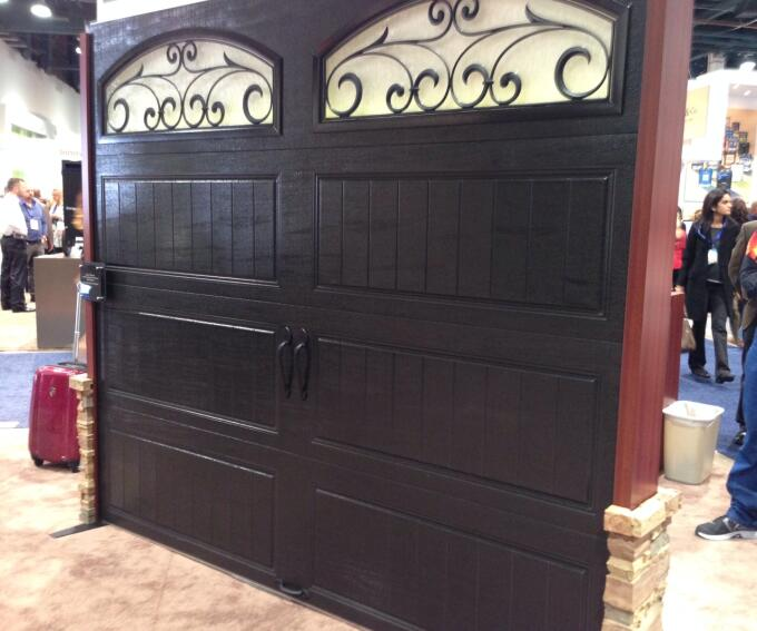 Clopay black steel garage door. Photo by Lauren Hunter