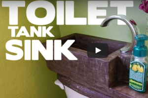 DIY Toilet Reuses Water From The Sink To Flush