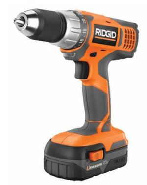 KNOW THE DRILL: This compact 18-volt lithium-ion drill handles the toughest tasks while reducing  user fatigue. It features two speeds, 455 inch-pounds of torque, and  weighs 4.25 pounds with battery. A fade-free power feature means the tool runs  just as fast and just as tough at the end of the charge as at the beginning. Each  battery provides at least 2,000 recharges, the company says. Ridgid. 800-474-3443. www.ridgid.com.