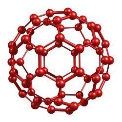 A schematic of a fullerene molecule.