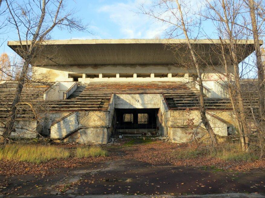 Inside Chernobyl.