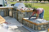 Tiling an Outdoor Countertop With A Reinforced Mortar-Bed Substrate