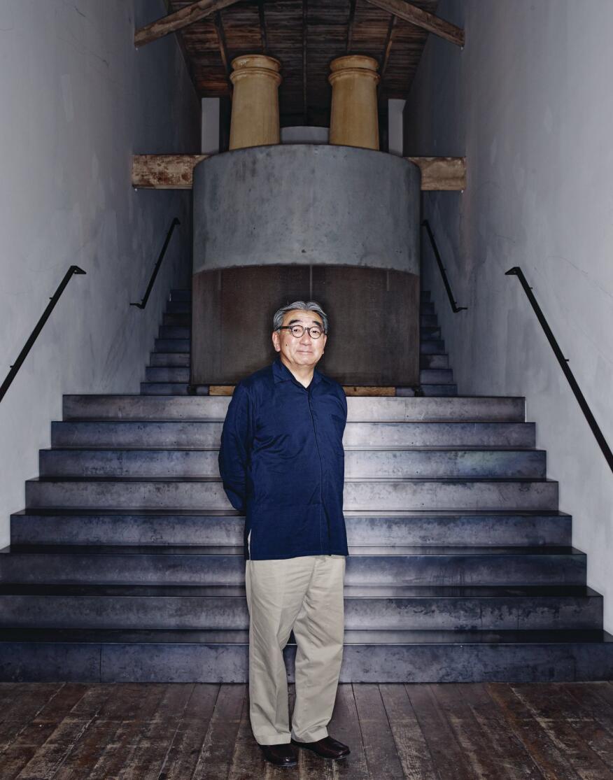 George Suyama, in the Belltown studio of Suyama Peterson Deguchi.