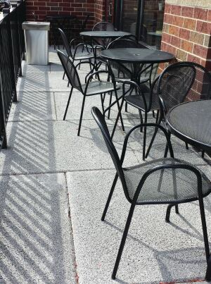 Pervious precast can be used for patios that are attractive, functional, and low-maintenance.