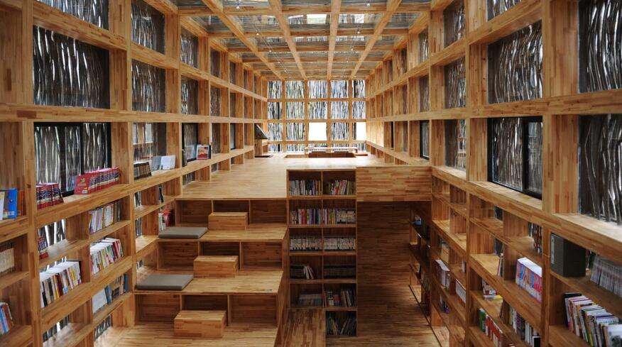 Liyuan Library, Jiaojiehe, China by Li Xiaodong