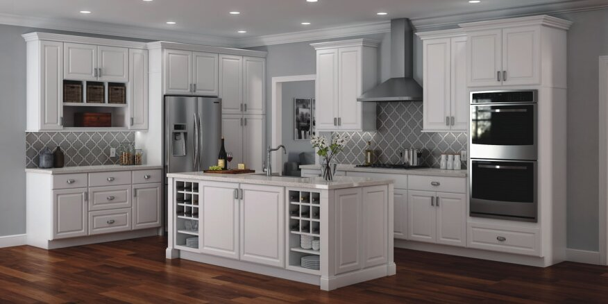 Using kitchen cabinets throughout the home shells only for Kitchen craft cabinets home depot