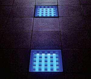 Hess America  www.hessamerica.com  LED-illuminated tiles and strip lighting  Can be embedded in paver stones and concrete walkways  Available in outdoor, indoor, and underwater models