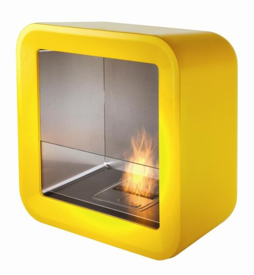 Retro Fireplace Burns Bio-Fuel