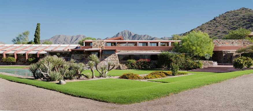 The view from the prow at Taliesin West
