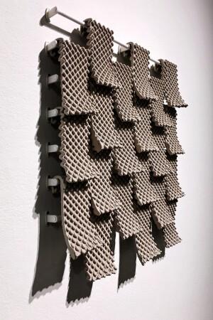 """""""GCODE.Clay"""" façade shingles, Rael San Fratello"""