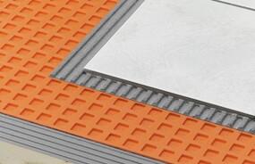 Schluter®-DITRA Prevents Cracks in Tiled Floors