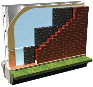 Cavity Cleaning: Advanced Building Products' Mortar Maze mortar deflection system breaks up mortar droppings within masonry cavity walls, allowing moisture to drain more effectively. Each panel measures   5 feet long, 1 or 2 inches thick, and 11 or 16 inches wide.