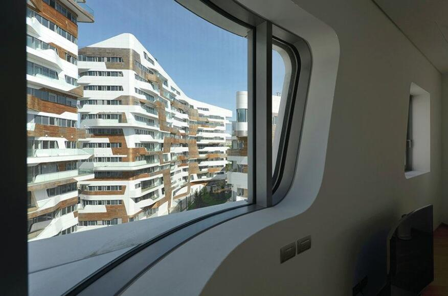 Zaha Hadid-designed residences, interior.