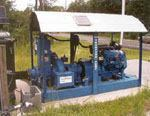 This shows one of 10 permanent Thompson Pump emergency backup pumps used by Regional Utilities in Walton County, Fla. The pumps are equipped with automatic start/stop systems.