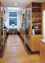 Dishwasher: Kitchenaid; Entry doors: Marvin; Garage doors: Overhead; Hardware: Schlage, Ives, Baldwin; Interior doors: Morgan; Kitchen fittings: Grohe; Kitchen fixtures: Franke; Oven: Dacor; Range hood: Best by Broan; Refrigerator: Sub-Zero; Skylights: Wasco; Windows: Marvin.