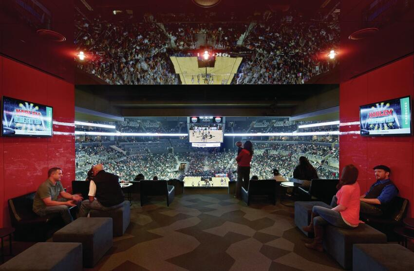 Luxury box interior.