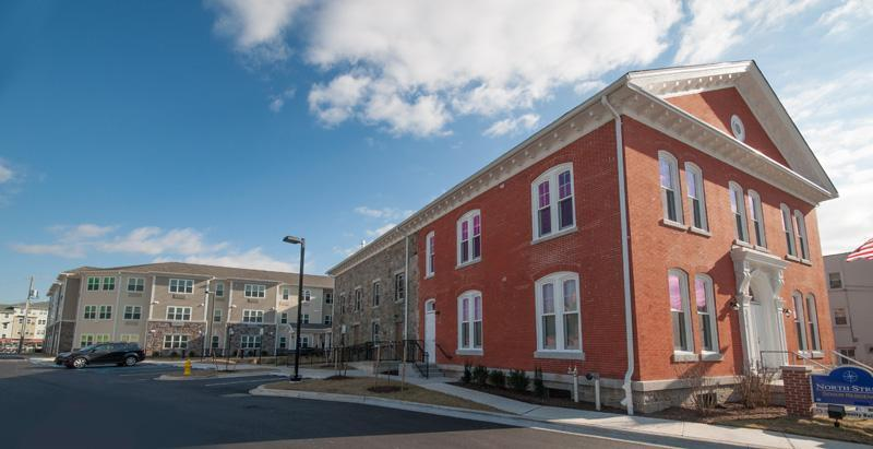 North Street Senior Residences in Elkton, Md., combines a historic jail building with a new addition to deliver 53 apartments for seniors. (Photo: Adam Thompson)