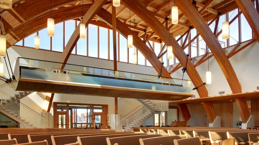 Laminated Wood Structures ~ Innovative detail st edward catholic church architect