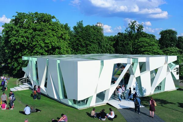 Serpentine Gallery Pavilion 2002, designed by Toyo Ito and Cecil Balmond with Arup