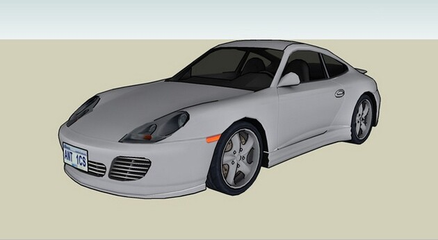 3D Warehouse Porsche Car