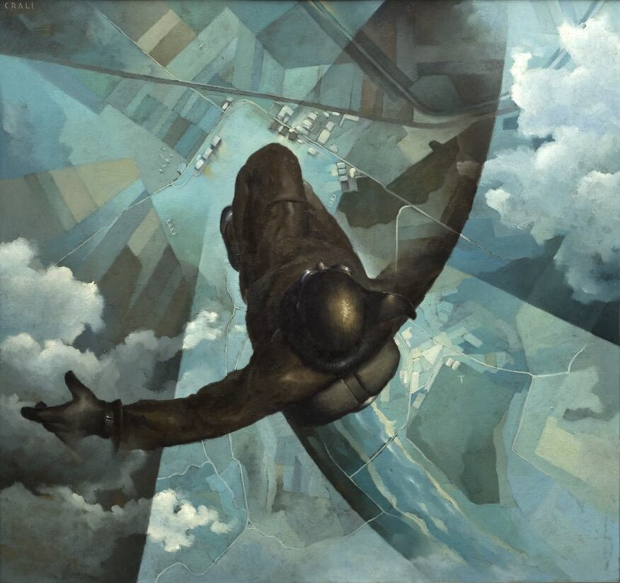 Before the Parachute Opens, Tullio Crali, 1939.