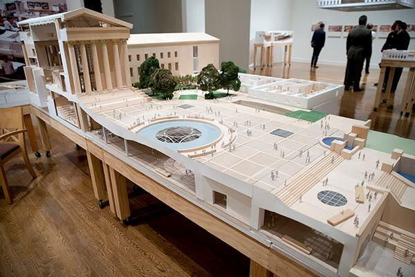 A model of the Philadelphia Museum of Art's master plan, designed by Frank Gehry, FAIA.
