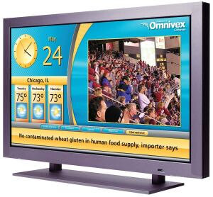 """Omnivorex Display 3 content management system  Omnivex  www.omnivex.com  Content management system for dynamic digital signage networks    Manages any number of displays for a central location    """"What you see is what you get"""" environment    Creates layouts at specific resolution of each display    All components are assembled at central management locations and delivered to remote players once    No streaming media congestion"""