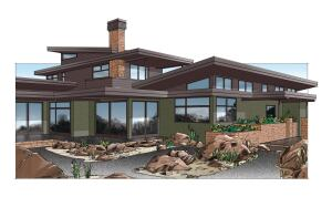 """DESERT RAIN HOUSE  """"You have to question every building practice you thought was standard,"""" says ML Vidas, sustainability advisor on this new Living Building Challenge project under way in Bend, Ore. Designer Al Tozer calls this the most rigorous process hes experienced, from ensuring net zeroenergy and water performance to product selection and local sourcing. """"Specifying materials is a real challenge,"""" he says. """"They're pretty strict about the LBC Red List.""""    Exterior features include: Walk-off grates;FSC-certified and reclaimed wood products; R-60 closed-cell foam walls/ceilings; Loewen high-performance windows; passive solar design; Solar PV and water heating; rainwater harvesting; local sandalwood stone veneer; and constructed wetland"""