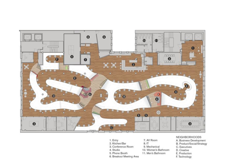The Barbarian Group office plan.