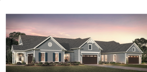 The triplex homes at Hidden Ravines, an Epcon community in the metropolitan Columbus, Ohio area, is one of the first of the new series of attached homes.