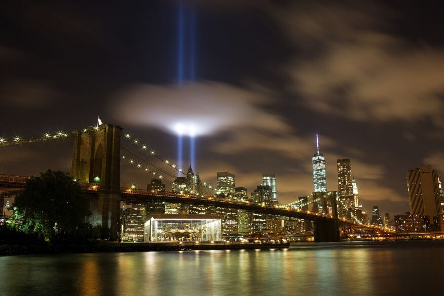 "The ""Tribute in Light,"" an annual remembrance of the attacks on Sept. 11, 2001."