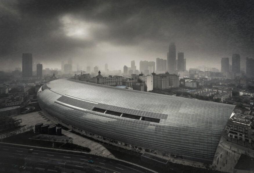 """Riverside 66"" (Building in Tianjin, China, designed by Kohn Pedersen Fox Associates)"