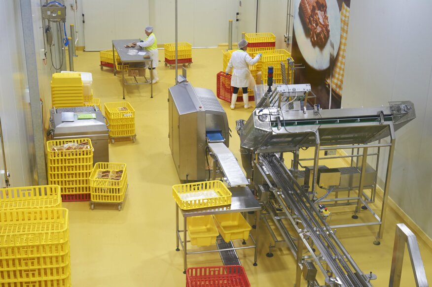 Cracked and pitted concrete is a great breeding ground for bacteria. Hazard Analysis and Critical Control Point (HACCP) International minimizes contamination by requiring food and beverage floors be seamless and impervious.
