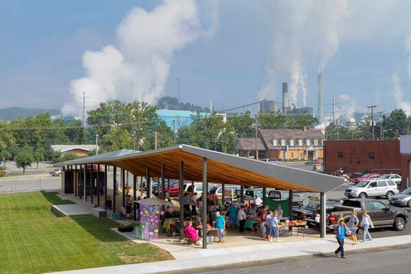 Covington Farmer's Market, Covington,, Va., by Virginia Tech's design/buildLAB