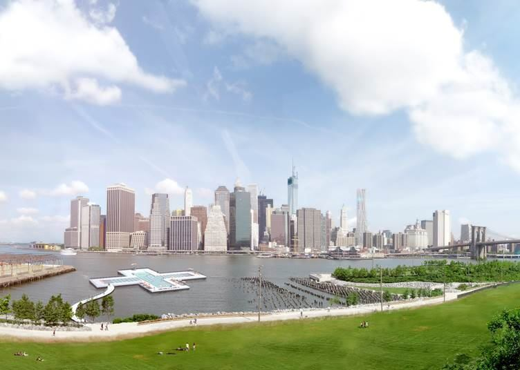 Even though the official location of the pool has not been decided, the designers are proposing it should either be along Manhattan or Brooklyn.