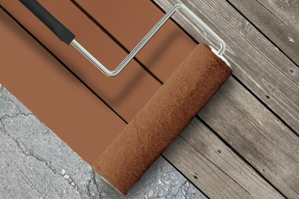 It 39 s a cover up behr premium deckover exterior coating builder magazine paints decking for Exterior wood decking materials