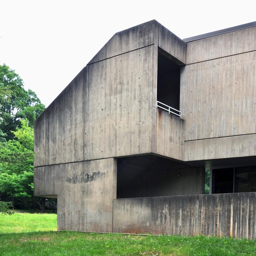 Marcel Breuer's American Press Institute, Reston, Va. - exterior stair