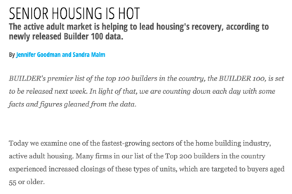 2014 Builder 100: Senior Housing Is Hot